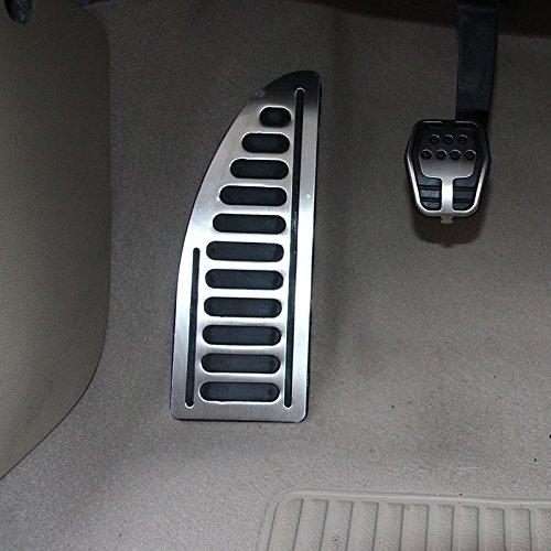 9 MOON FKJTB0007X Copertura Adesiva per Pedale Poggiapiedi in Acciaio Inox e Gomma Antiscivolo per Auto con Guida a Sinistra