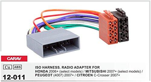 CARAV 07–012–11–2doppio DIN Radio Stereo Adapter DVD Dash circondato Trim Kit Di Installazione Con Adattatore ISO e adattatore antenna