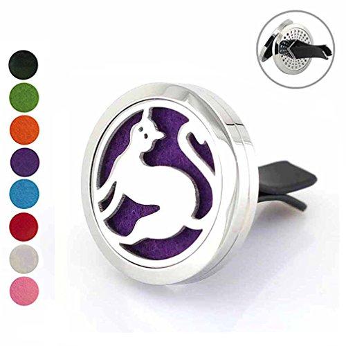 Deodorante per auto Vent clip aromaterapia diffusore di oli essenziali–Love Cat auto diffusore con 8feltrini da Joymiao