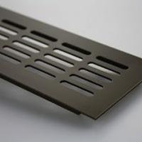 Griglia di Ventilazione in Alluminio - 80 mm x 1000 mm - Vari Colori -  Bianco (verniciatura a polvere)