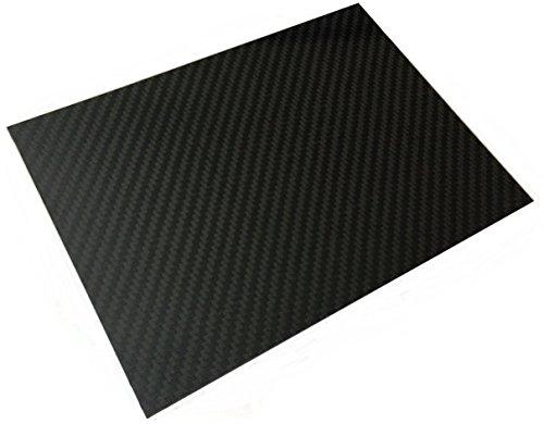 In fibra di carbonio, in fogli formato A4, rigido, 1 mm, 100% fibra di carbonio)