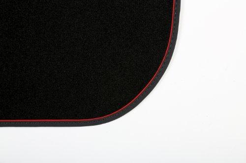 INTERMATS 412739 Pulsar tappetini per auto velour 95nero, Nubuk con piega rosso