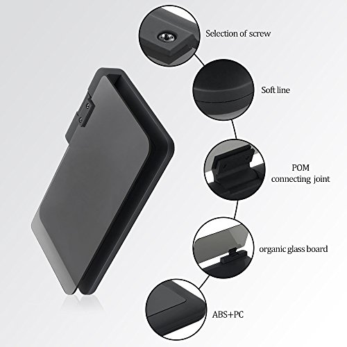 KKmoon Supporto da Auto Universale Multiangolo HUD Navigazione GPS Titolare per Cellulari e Telefonini con Grande Schermo