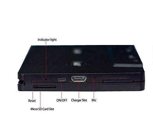 [nuova versione] Itape Bluetooth V4.0+ EDR lettore cassette adattatore ricevitore audio con microfono, slot Micro SD TF per lettore cassette cassette da scrivania o auto