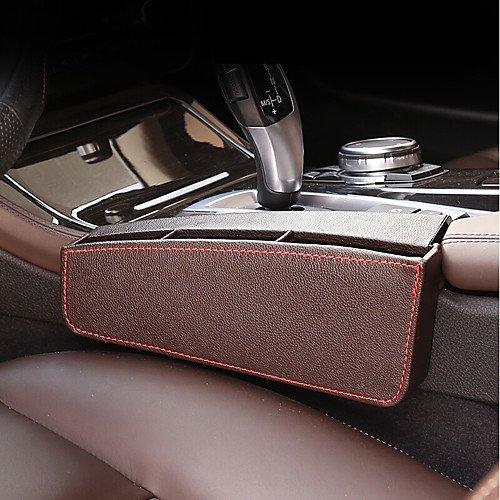 QCSN Organizer Auto Sedile anteriore Il driver principale Organizer Auto Per BMW Tutti gli anni Serie 5 Pelle,brown