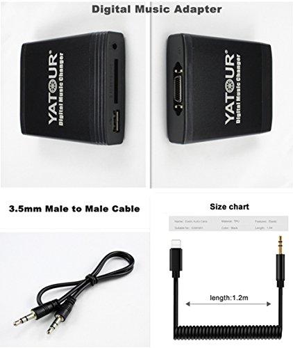 WINOMO universale jack da 3,5 mm AUX ingresso Cavo adattatore per auto Audio scenico
