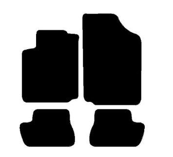 Set Completo di Tappetini su Misura in Moquette Neri con Ricamo a Filo Bianco Tappeti per Auto con Posteriore Intero