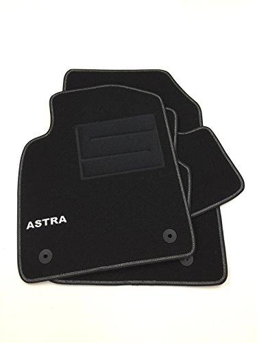 tappetini per Astra J 2009-2015 tappeti auto in moquette loghi e bottoni