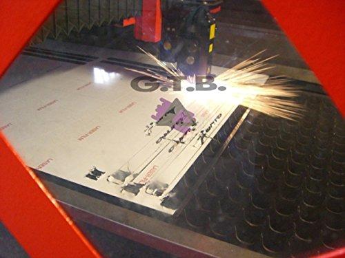 stampa ultra violetti misura 24 x 8,5 cm con kit 4 viti incluso tuning pedana poggiapiede acciaio inox
